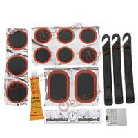 Sahoo велосипед велосипедных шин комплект для ремонта шин набор инструментов заплаты резиновым клеем