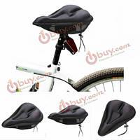 Велосипедное седло силиконовое мягкое подушка Pad черный