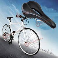 Седло велосипедное с выемкой черное