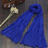 Легкий жатый шарф бирюза
