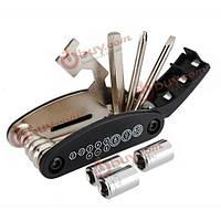 16в1 велосипедных шин ремонт набор инструментов комплект цепи заклепки вытяжной