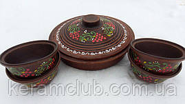Керамический набор из красной глины