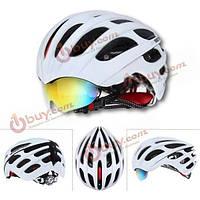 Велосипедный шлем с линзами-очками для езды на велосипеде 56-62
