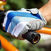 Велосипедный велосипедный силикон удобная половина пальца fingerless синие перчатки
