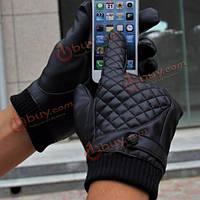 Перчатки сенсорные черные мужские спортивные L