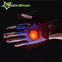 Rockbros унисекс летние перчатки половину палец езды с умным руля легких светлых перчаток