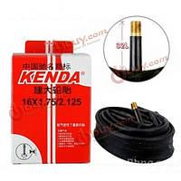 Kenda камера для велосипеда 16*1.75/2.125 аудио/видео MTB дорожный велосипед шины