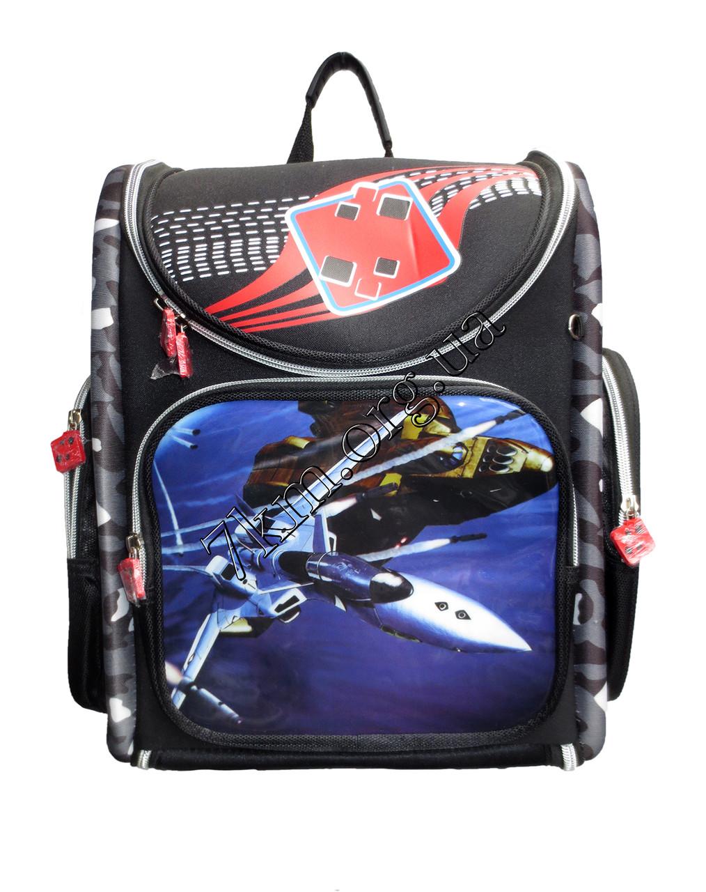Школьный рюкзак для мальчиков Самолёты 12583-16 (35x35см)