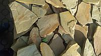Камень песчаник  серо-желтый ( ямпольский )