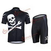 Arsuxeo мужчин задействуя Джерси костюм рубашка и шорты трикотажные одежды для верховой езды велосипед череп