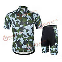 Костюм велосипедный Arsuxeo короткий рукав рубашка 3d