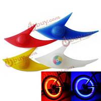 Пара колесо велосипеда свет акула форма спиц LED велосипед многоцветный