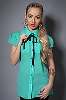 Нарядная красивая модная стильная шифоновая блуза женская 42-44