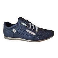 Кожаные летние кроссовки Columbia SB blue