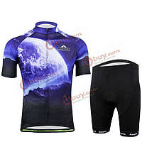 Спортивный костюм для велоспорта (кофта с коротким рукавом и шорты)