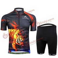 Велоспорт костюм мужчинам рубашка и шорты Тигр