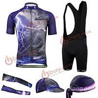 Костюм для велоспорта мужской (шорты, кофта, бандана, кепка)