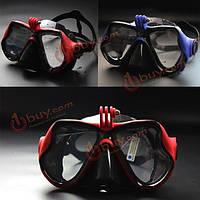 Дайвинг маска-очки для подводного плавания с креплением для камеры