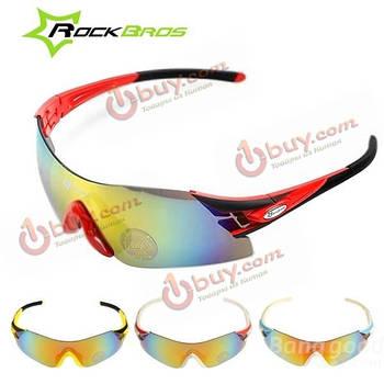 Очки спортивные поляризационные 3 съемные линзы uv400 Rockbros