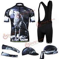 Мужская 3D Велоспорт одежда короткий рукав Джерси