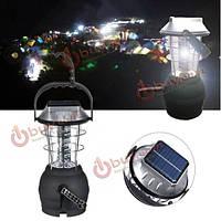 На открытом воздухе 36 LED s солнечный свет фонарь перезаряжаемые палатка лампы рукоятка динамо для кемпинга походы
