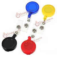 Выдвижной держатель карточки-ключа тег барабанах бейдж пластиковый зажим для ремня