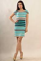 Платье с морским летним принтом в полоску (бриз) р.42-52