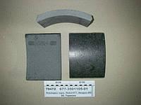 Накладка торм. ИКАРУС-260, -280, ЛиАЗ-677 (Трибо), 677-3501105-01