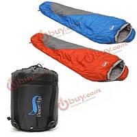Один человек спальный мешок на открытом воздухе кемпинга походы путешествия с сумкой водонепроницаемый