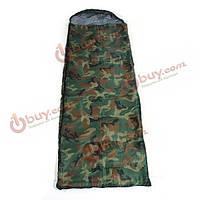 Открытый кемпинг спальный мешок мешки толщиной проезд с капюшоном камуфляж