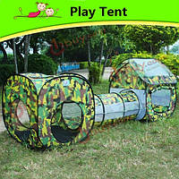 Детский спортивный отдых на открытом воздухе газон кемпинговая палатка игровой домик тоннель ползать