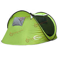 На открытом воздухе кемпинга походы палатка 3-4 человек однослойная автоматическое открытие водонепроницаемая палатка серебряное покрыт