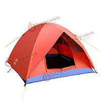 Открытый кемпинг для 3-4 человек двойной слой шторм-доказательство шатер