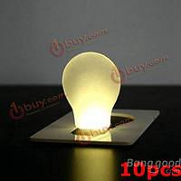 10шт портативный LED карта свет карманного фонаря кошелек аварийного освещения