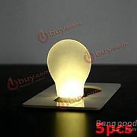 5шт портативный LED карта свет карманного фонаря кошелек аварийного освещения