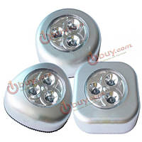 Походы Путешествия ванная комната 3 LED сенсорный светильник автомобиля похлопал фонари