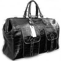 Сумка дорожная, саквояж мужской кожаный черный Desisan 708 Турция