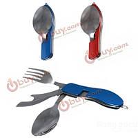 Туристические столовые приборы в наборе: нож, вилка и ложка