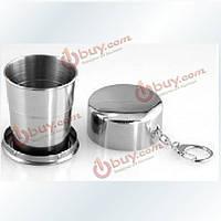 Большая гибкая нержавеющая сталь сворачивания выставляет напоказ портативную водную чашку