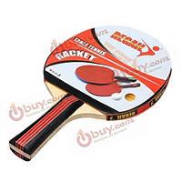 Длинной ручкой и короткой ручкой настольный теннис ракетки высокого качества сырой резины ракетка