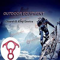 Кемпинг походы восемь колец спусковое крюк восхождение альпинизмом вниз протектор устройства