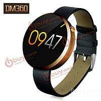 Dm360 показывает круглый циферблат металлические Bluetooth  4.0 спорт Смарт часы система IOS для Андроид  а также