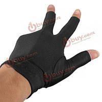 Бильярдные перчатки три пальца мужские
