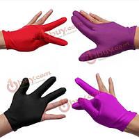 Бильярдные перчатки на три пальца