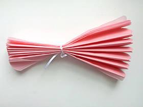 Помпон из тишью, светло-розовый, 30 см