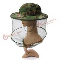 Камуфляжная шляпа москитная метка