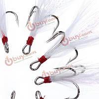 10шт/много высоких частот перо рыбалка приманки крючки кривошипно приманки аксессуары