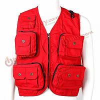 Верхняя одежда мужские спорта на открытом воздухе свободно жилет сетка дышащие холст карман на молнии жилеты