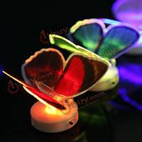 Изменение оптического волокна LED мигающий свет бабочка подарок