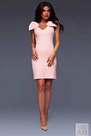 Женское платье с бантами на плечах в расцветках А484